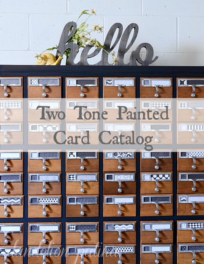 two tone card catalog