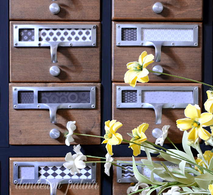 card catalog old fashioned milk paint