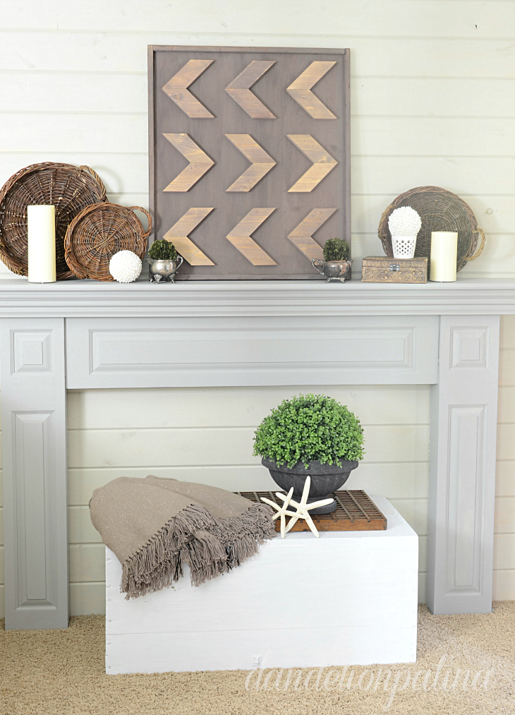 DIY rustic arrow wall art with homestead house milk paint