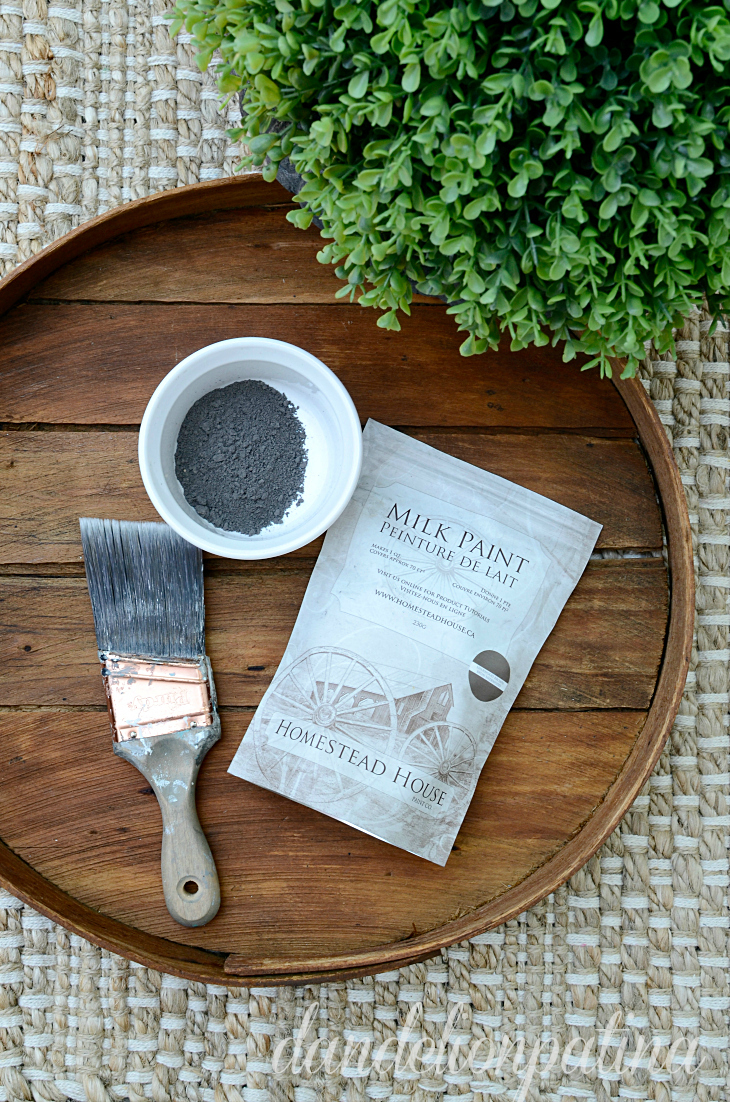 homestead house milk paint in sherwood brown as a stain for DIY rustic arrow wall art