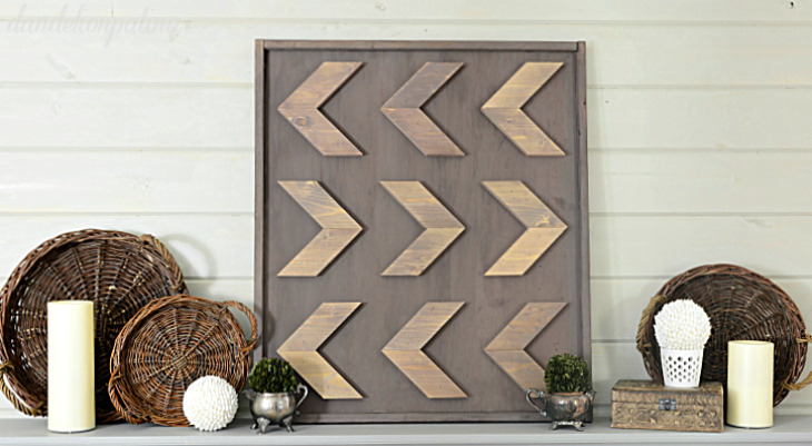 DIY rustic arrow wall art