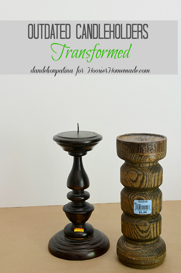 Want to know how to transform ugly outdated candleholders into modern updated pieces? Find out how on the blog with Americana chalky finish paint