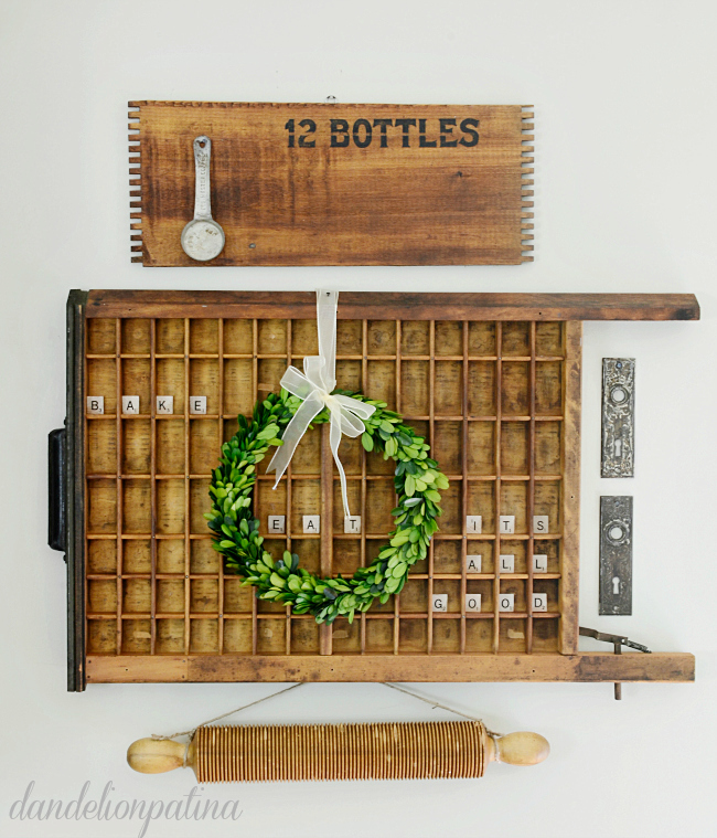 Printers trays have you stumped? Get the 411 on how to style a vintage printers tray with charming details