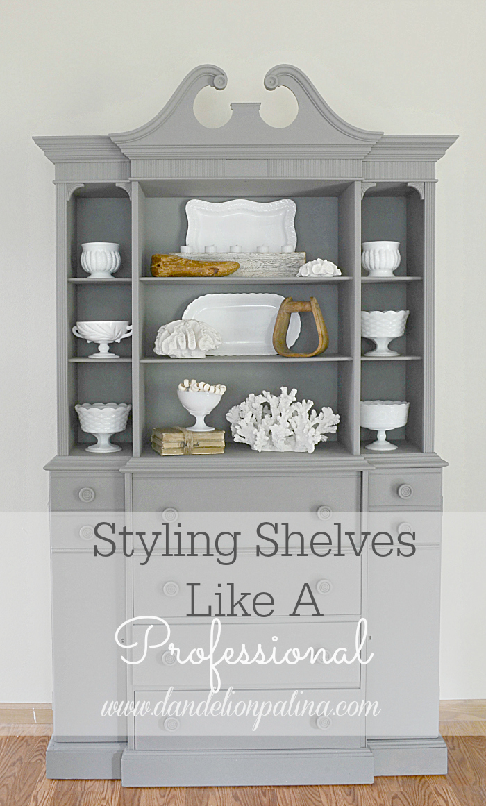 Are you stuck trying to figure out how to style your shelves? These simple tips will have you styling your shelves like a pro!