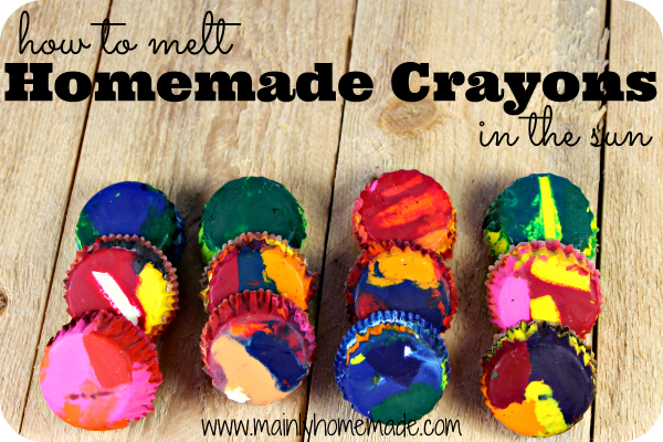 how to melt homemade crayons in the sun