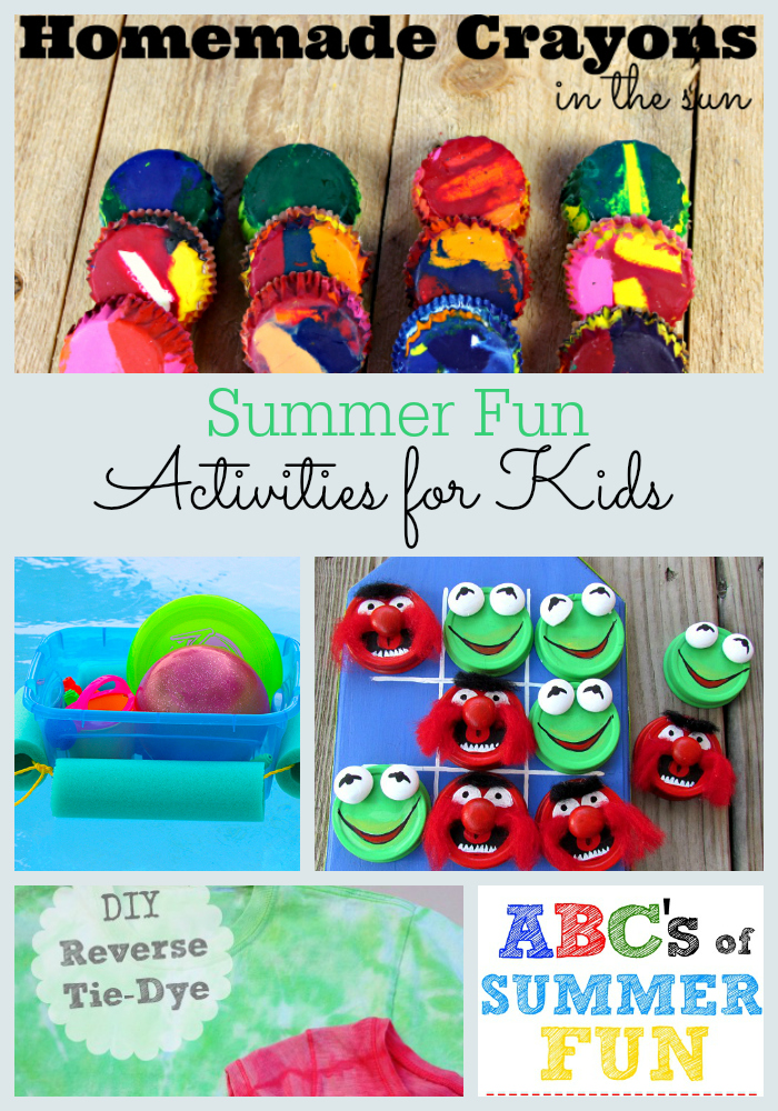 Looking for ways to keep the kids busy this summer? These summer fun kids activities will keep them busy all day long! Projects featured on the Moonlight & Mason Jars Link Party