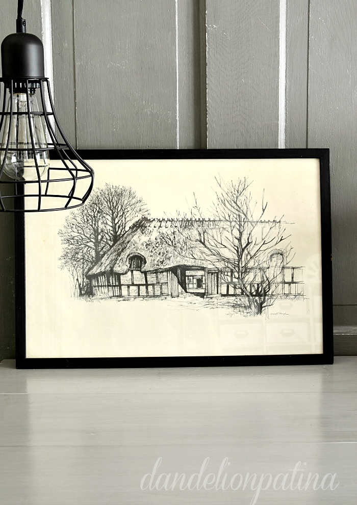 vintage black and white barn sketches found via dandelionpatina.com