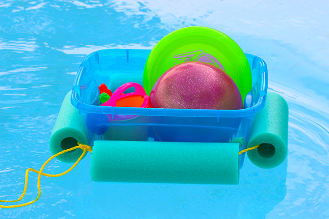 floating toy bin diy