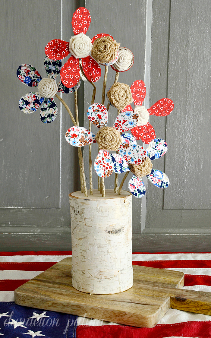 Looking to create lasting beauty without having a green thumb? These rustic floral bouquets would look great at weddings, holiday events or in your red white and blue vignette