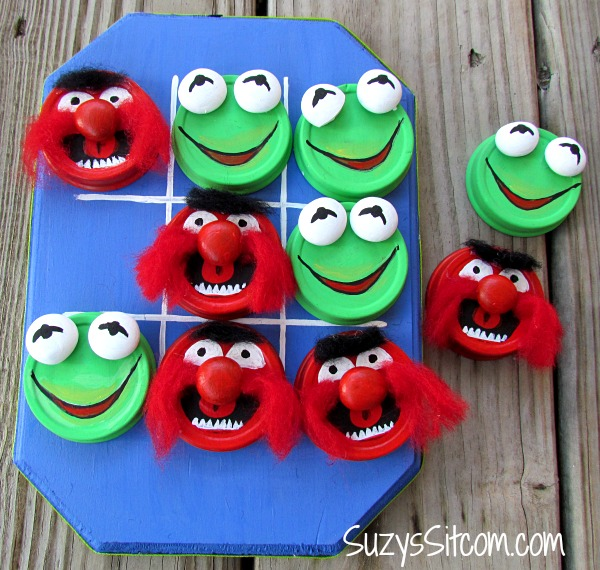 DIY Muppets Tic Tac Toe Game by Suzys Sitcom - Fun Summer Activities for Kids