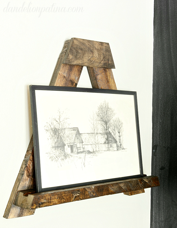 pallet wall easel diy