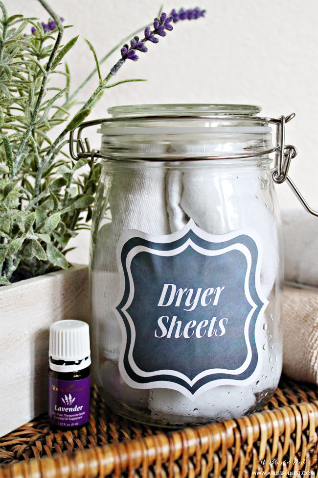 DIY dryer sheet by A blissful Nest