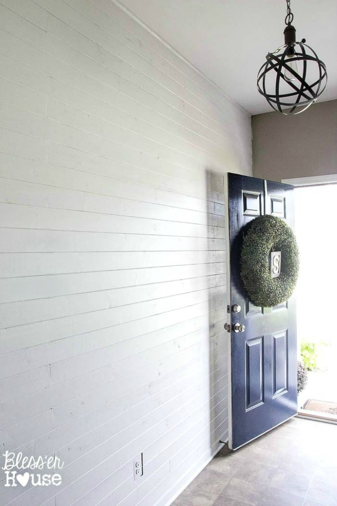 DIY shiplap wall by Blesser House