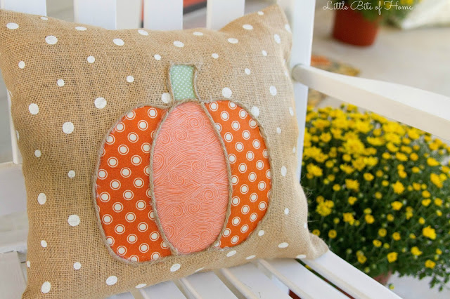 pumpkin pillow by Little bits of Home