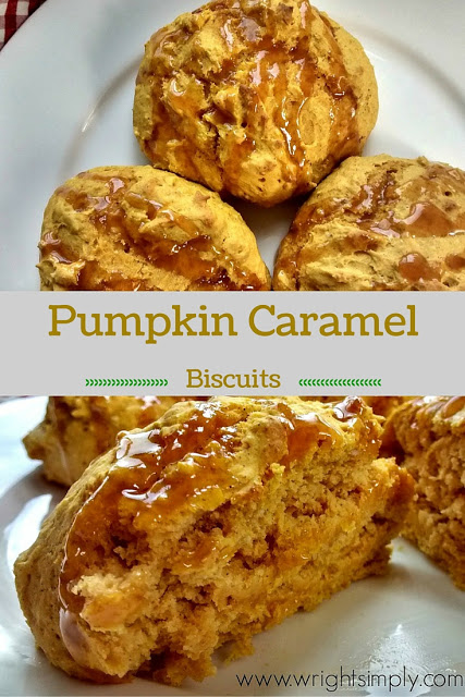 Pumpkin Caramel Biscuits