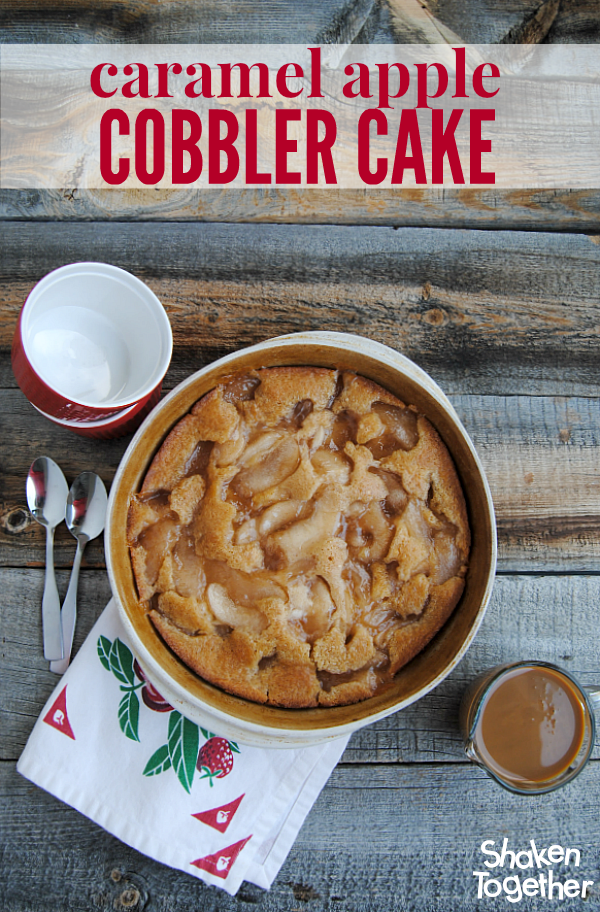 caramel apple cobbler cake