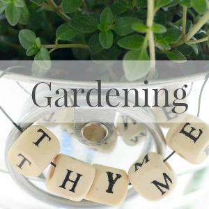 Gardening sidebar