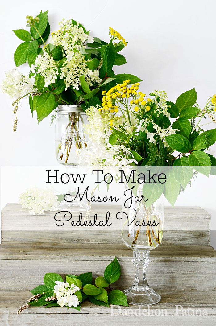 How to make mason jar pedestal vases