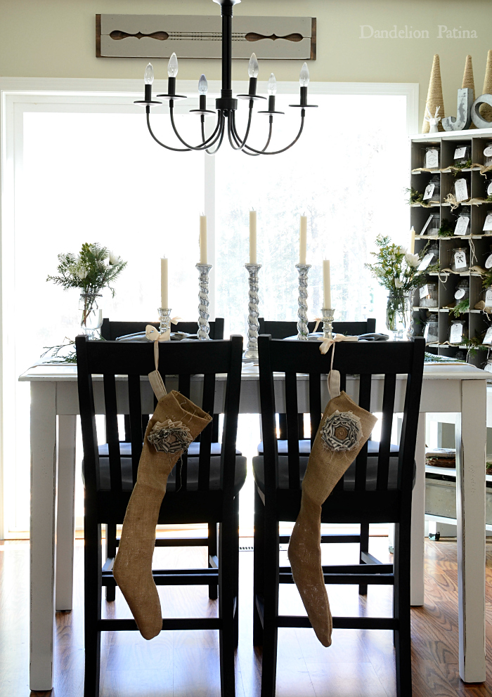 Cottage style dining area with an industrial flair via dandelionpatina.com #cottagestyle