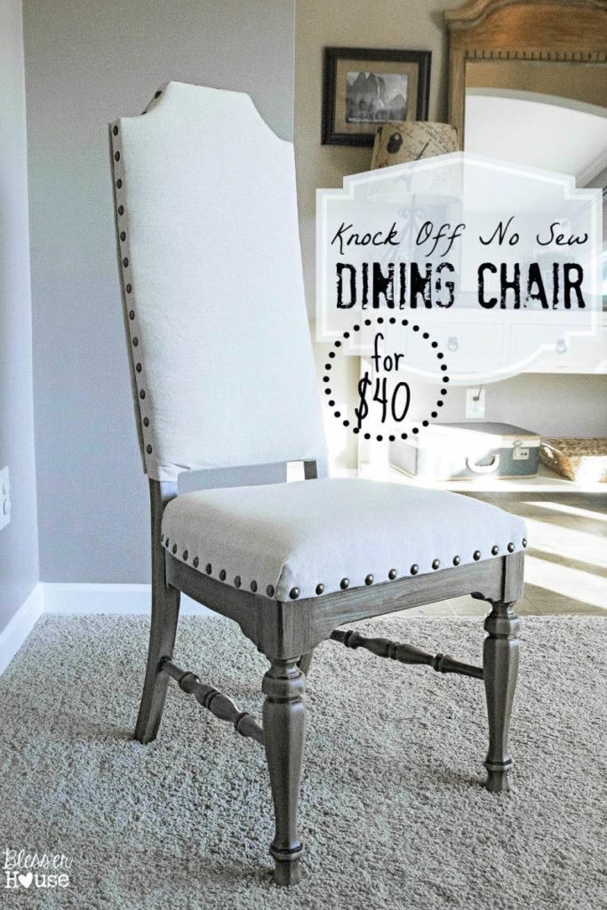 knock off no sew dining chair from Bless'er House