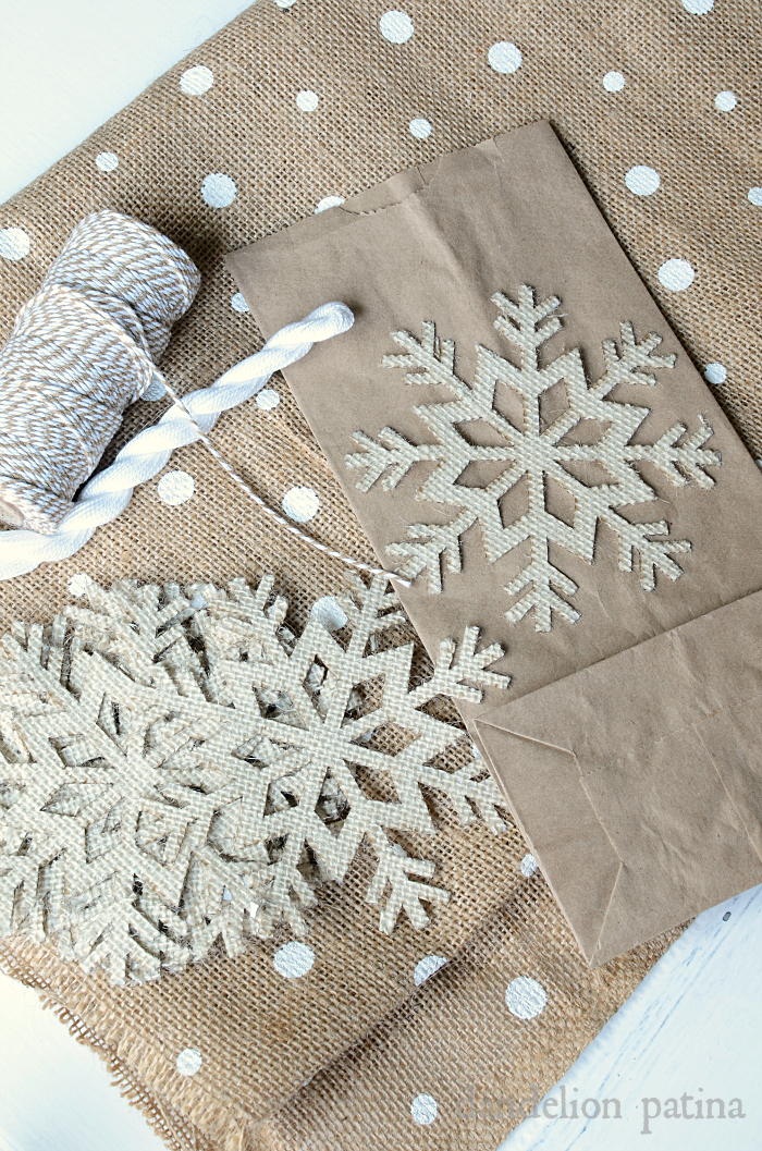 how to make a burlap gift bag via dandelionpatina.com