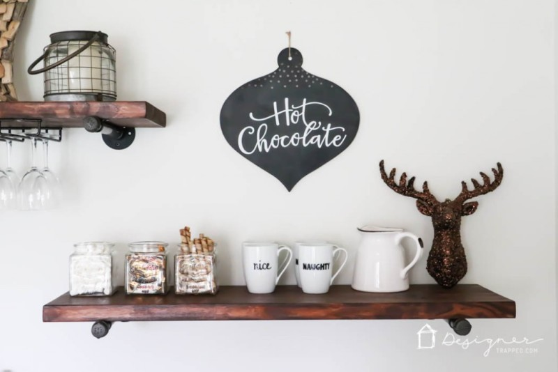 DIY hot chocolate bar from designerstrapped.com