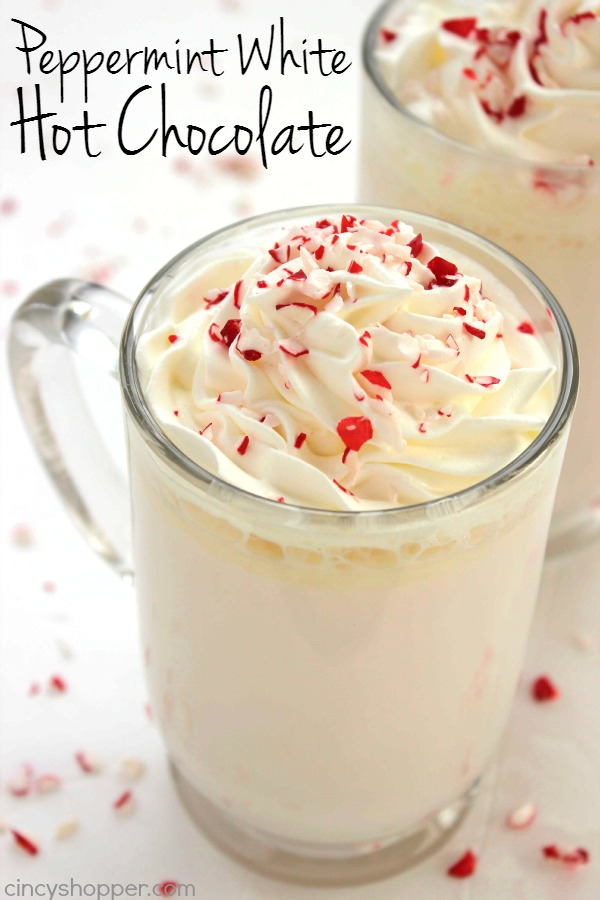 Peppermint white hot chocolate from cincyshopper.com