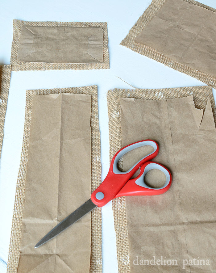burlap gift bag tutorial