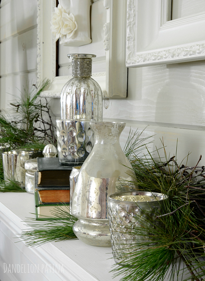 cozy winter mantel from dandelionpatina.com #wintermantel