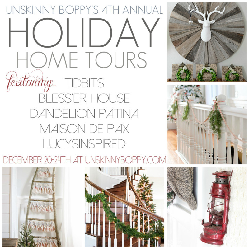 Holiday Home Tour featuring Dandelion Patina for Unskinny Boppy via dandelionpatina.com