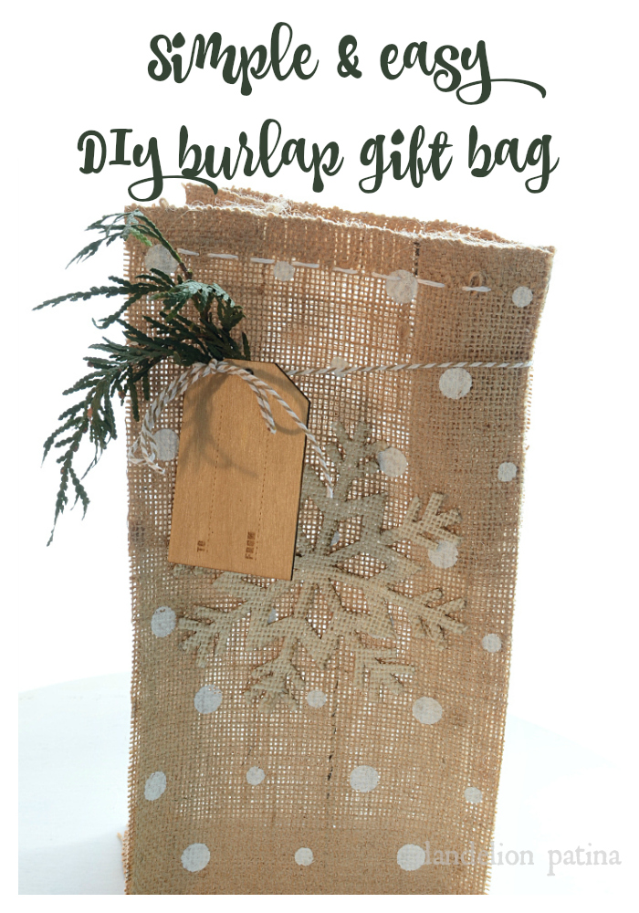 Simple and easy DIY burlap bag tutorial by dandelion patina