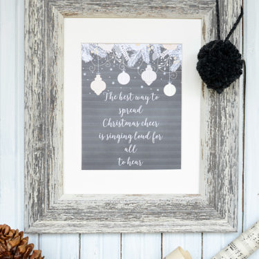 Free Christmas Cheer printable with quote from The Elf movie via dandelionpatina.com #theelf #christmascheer