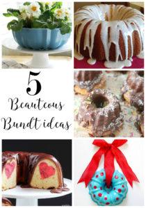 5 beauteous bundt ideas found on dandelionpatina.com via the moonlight and mason jars link party