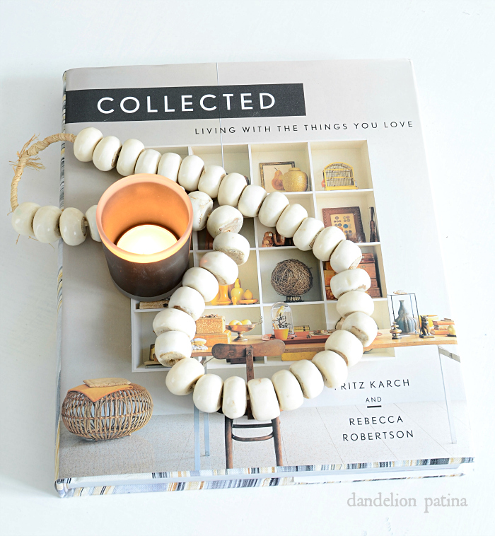 Love this coffee table book! Collected. details at dandelionpatina.com #farmhousestyle #collections
