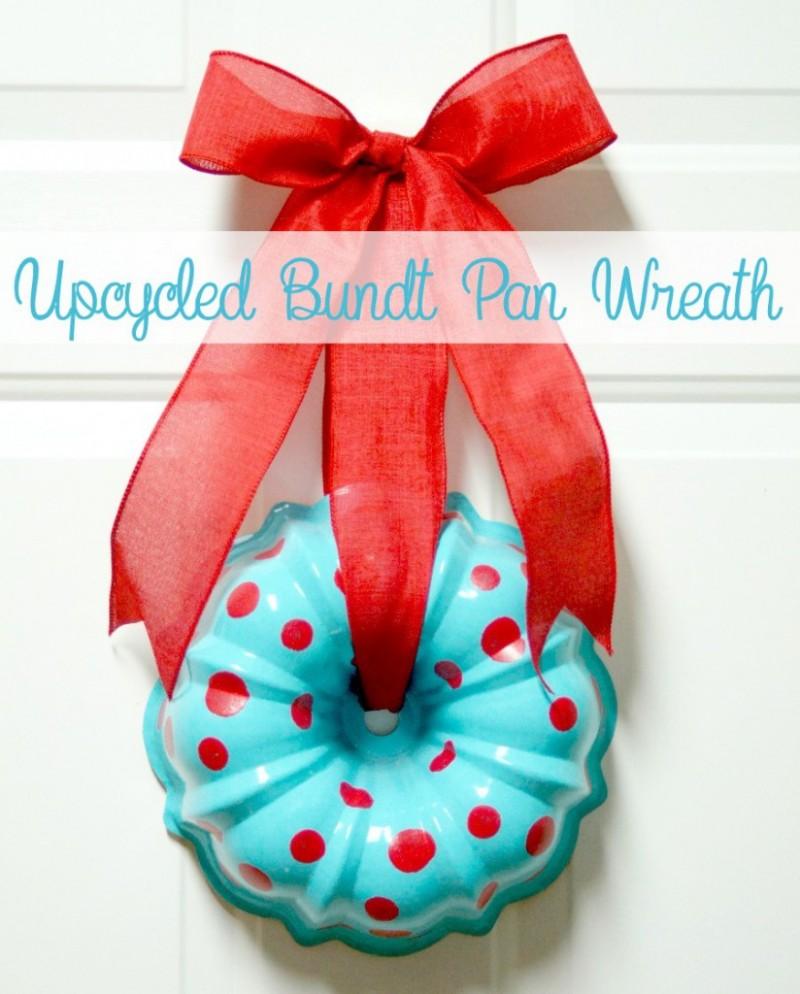 upcycled bundt pan wreath via TheScrapShoppeBlog.com