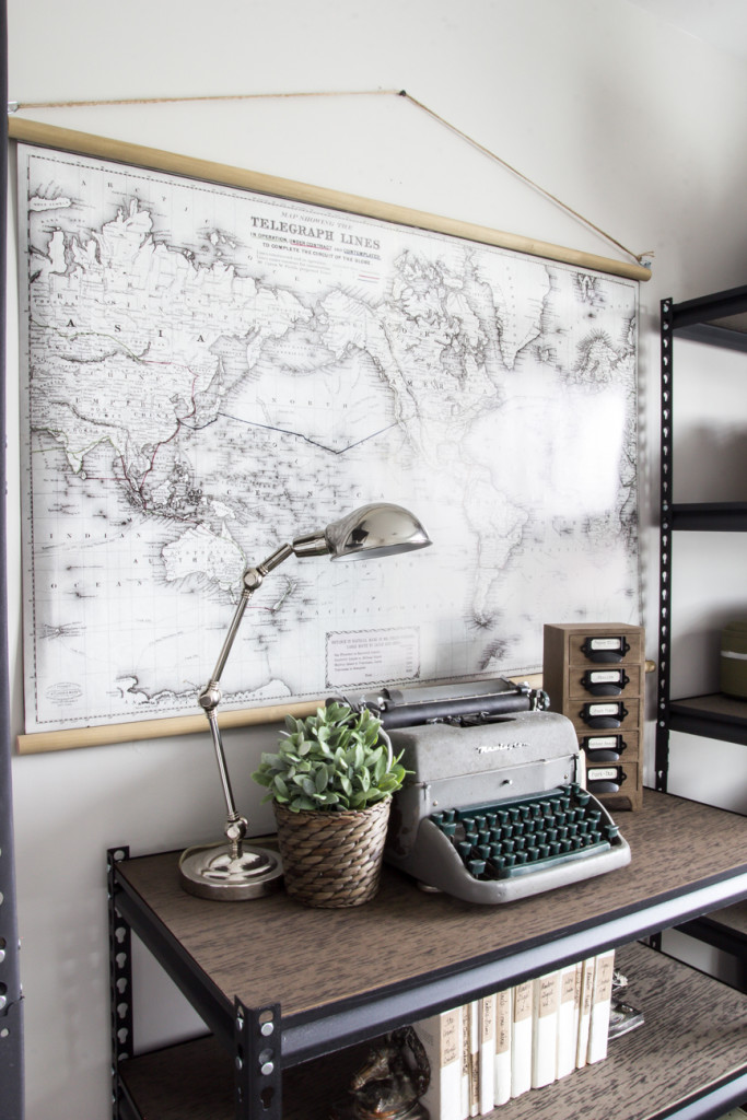 DIY Vintage Pull Down Map