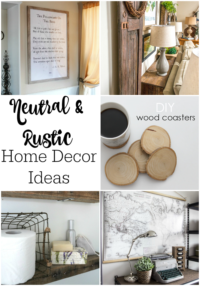 neutral and rustic home decor ideas - Diy Rustic Home Decor Ideas