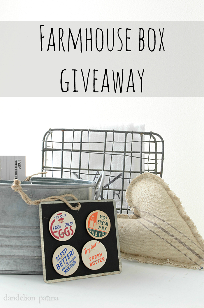farmhouse box giveaway with bHome app featuring Dandelion Patina