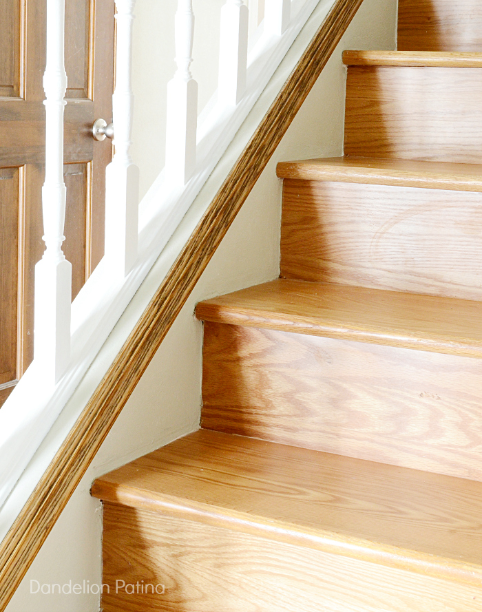 DIY stair skirting for wood stairs