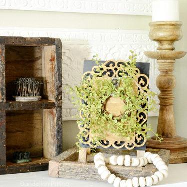 farmhouse style wreath easel DIY