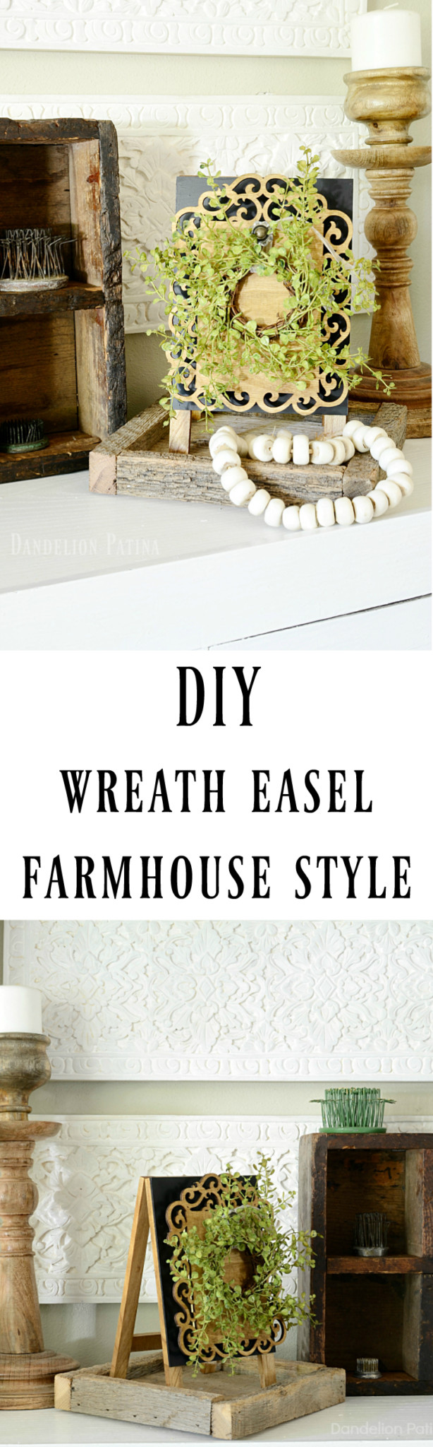 farmhouse style wreath easel