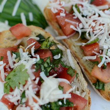 Garden fresh bruschetta