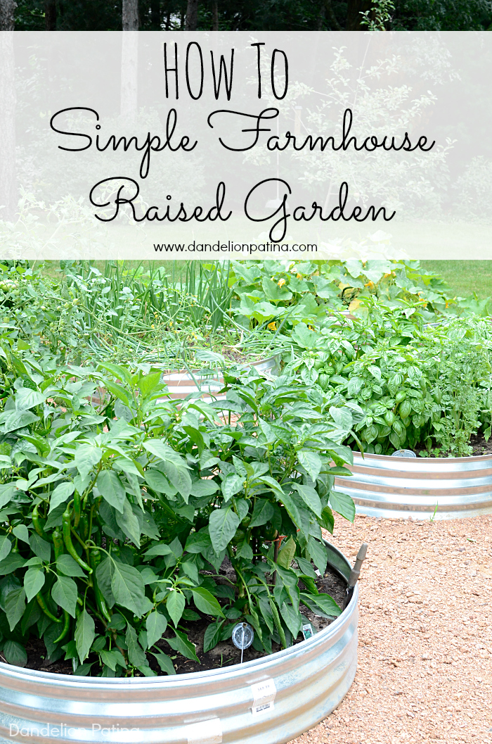 How to create a simple farmhouse raised bed garden