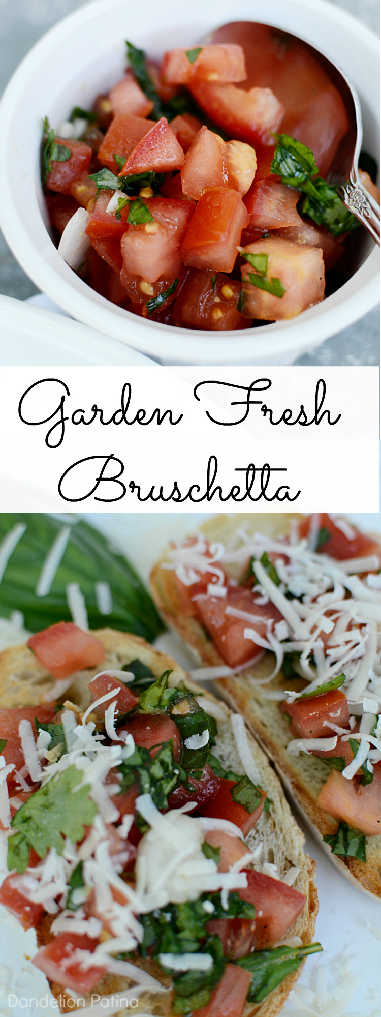 garden fresh bruschetta recipe