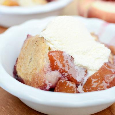 Fresh Peach Berry Cobbler