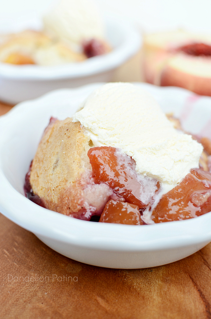 Fresh Peach Berry Cobbler by Dandelion Patina