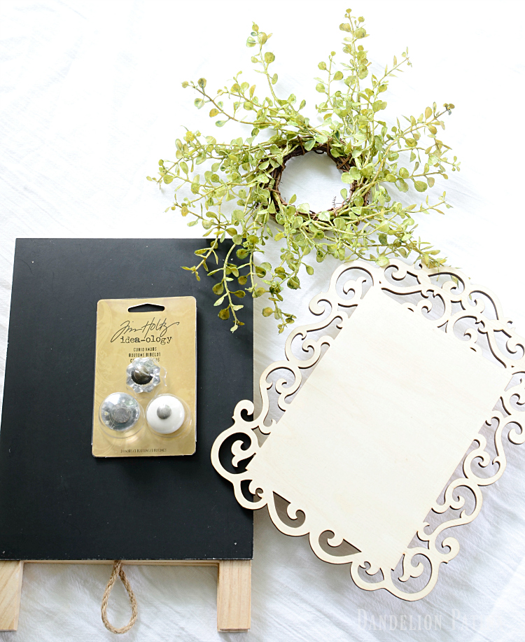 DIY farmhouse style wreath easel