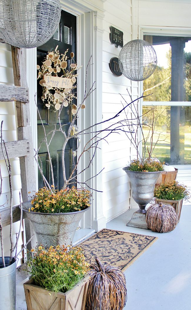 10 Cozy Fall Farmhouse Porch Decor Ideas Dandelion Patina: beautiful fall front porches