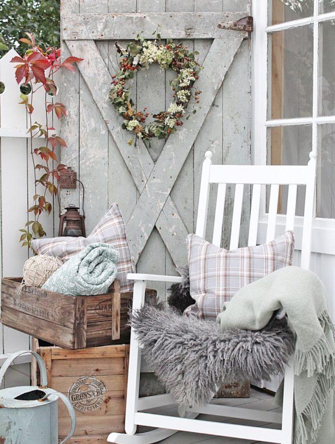 Vibeke fall vignette front porch