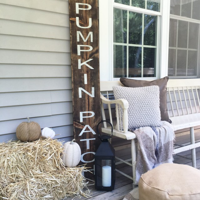 fall farmhouse porch decor ideas